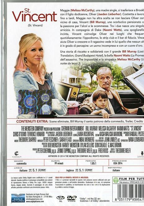 St. Vincent di Ted Melfi - DVD - 2