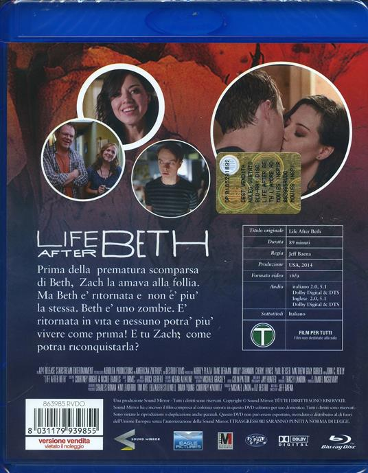 Life After Beth. L'amore ad ogni costo di Jeff Baena - Blu-ray - 2