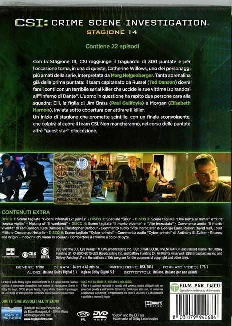 CSI. Crime Scene Investigation. Stagione 14 (3 DVD) di Alec Smight,Brad Tanenbaum,Jeffrey G. Hunt - DVD - 2