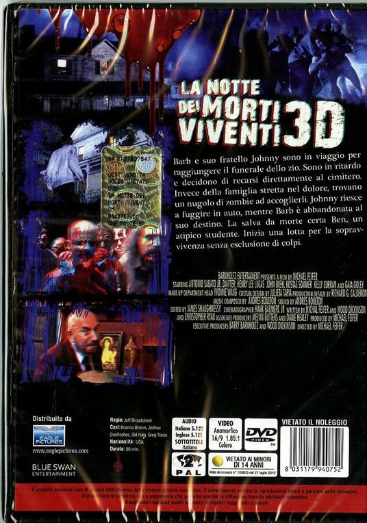 La notte dei morti viventi 3D di Jeff Broadstreet - DVD - 2