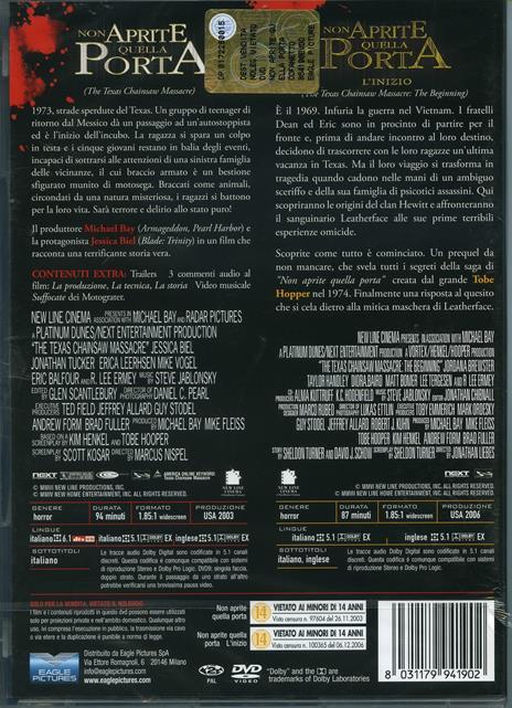 Non aprite quella porta. Non aprite quella porta. L'inizio (2 DVD) di Jonathan Liebesman,Marcus Nispel - 2