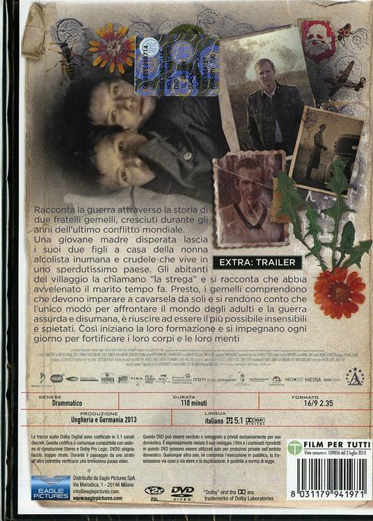 Il grande quaderno di Janos Szasz - DVD - 2