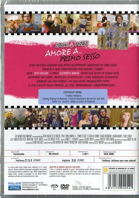 Zack & Miri. Amore a... primo sesso di Kevin Smith - DVD - 2