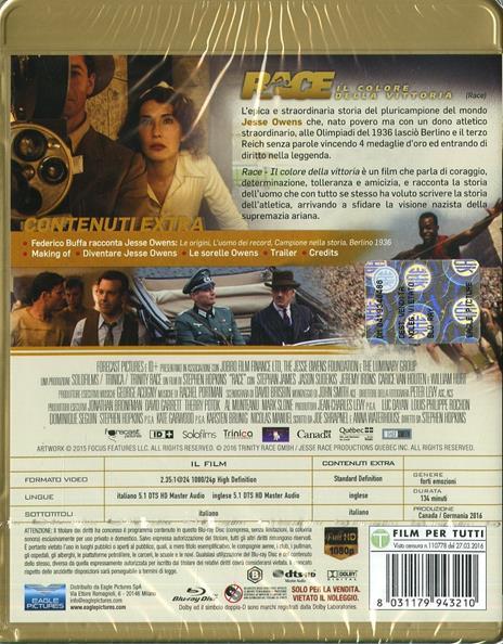Race. Il colore della vittoria di Stephen Hopkins - Blu-ray - 8