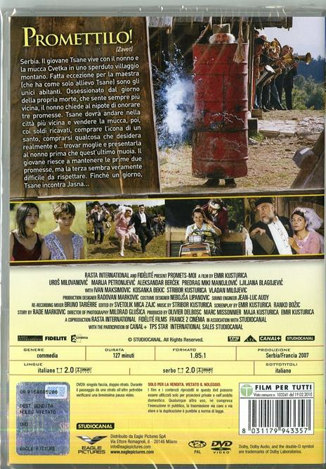 Promettilo! (DVD) di Emir Kusturica - DVD - 2