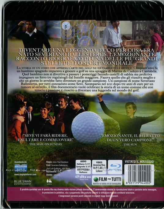 Seve. La forza dei sogni (Blu-ray) di John Paul Davidson - Blu-ray - 2