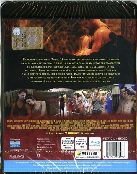 These Final Hours. 12 ore alla fine di Zak Hilditch - Blu-ray - 2