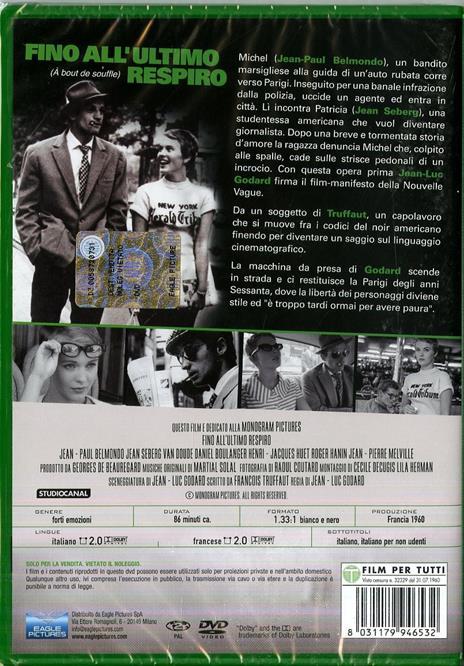 Fino all'ultimo respiro (DVD) di Jean-Luc Godard - DVD - 2