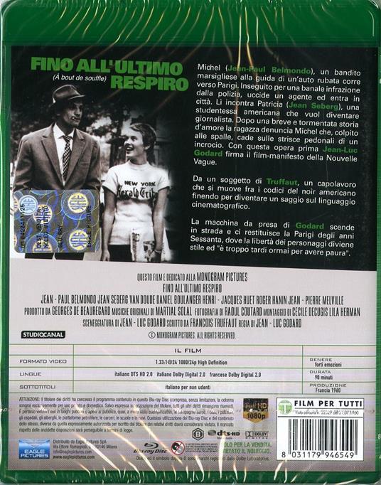Fino all'ultimo respiro (Blu-ray) di Jean-Luc Godard - Blu-ray - 2