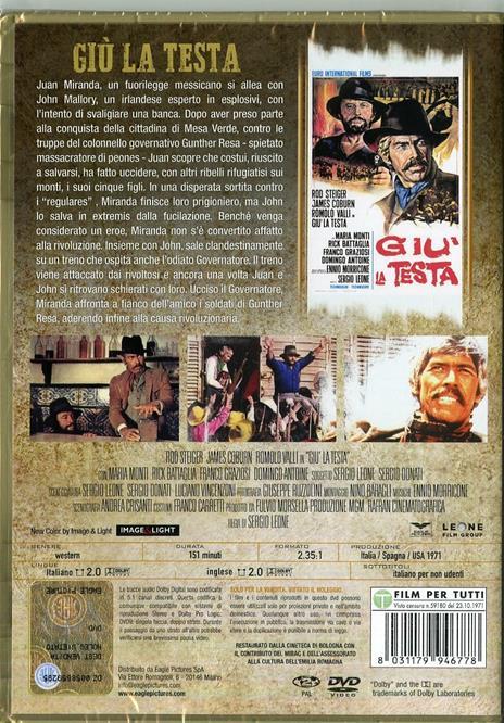 Giù la testa (DVD) di Sergio Leone - DVD - 2