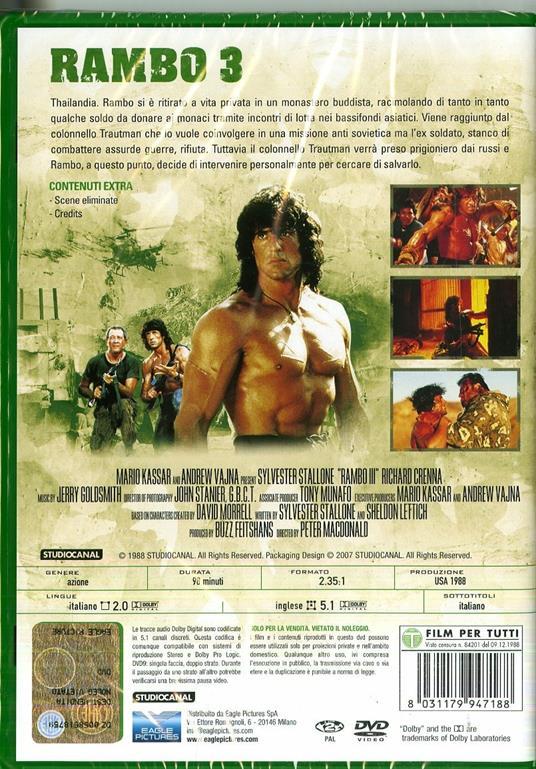 Rambo III (DVD) di Peter MacDonald - DVD - 2