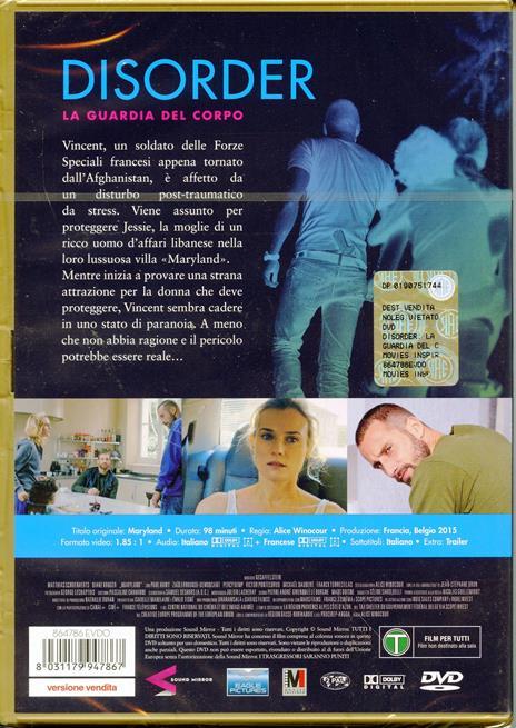 Disorder. La guardia del corpo (Maryland) (DVD) di Alice Winocour - DVD - 2