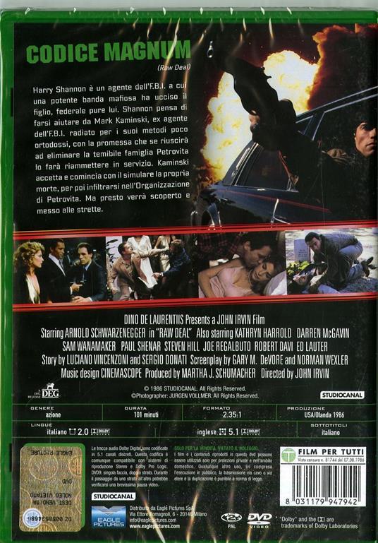 Codice Magnum (DVD) di John Irvin - DVD - 2