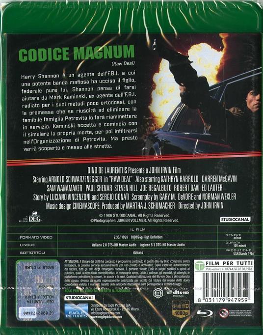 Codice Magnum (Blu-ray) di John Irvin - Blu-ray - 2