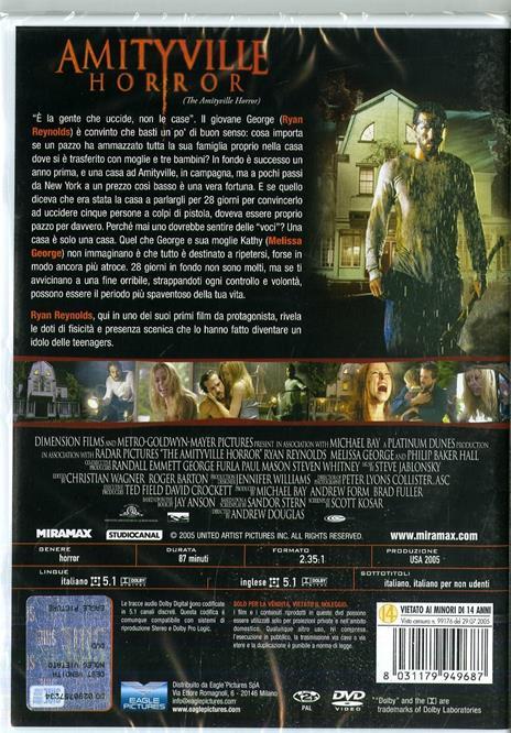 Amityville Horror. Special Edition. Con card tarocco da collezione (DVD) di Andrew Douglas - DVD - 2