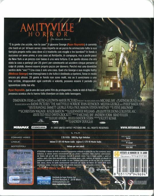 Amityville Horror. Special Edition. Con card tarocco da collezione (Blu-ray) di Andrew Douglas - Blu-ray - 2