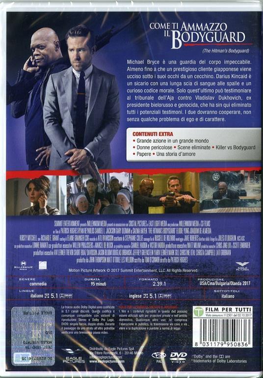 Come ti ammazzo il bodyguard (DVD) di Patrick Hughes - DVD - 2