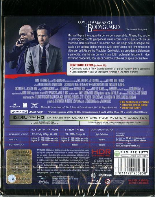 Come ti ammazzo il bodyguard (Blu-ray + Blu-ray 4K Ultra HD) di Patrick Hughes - 2