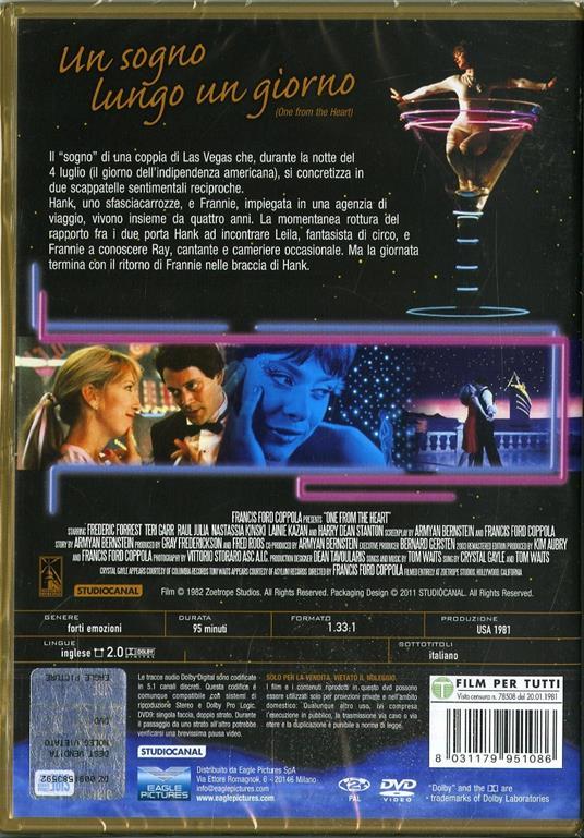 Un sogno lungo un giorno (DVD) di Francis Ford Coppola - DVD - 2