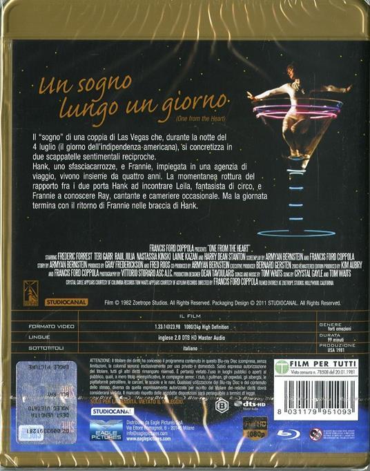 Un sogno lungo un giorno (Blu-ray) di Francis Ford Coppola - Blu-ray - 2