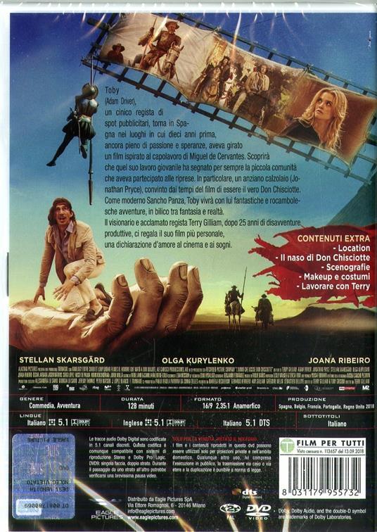 L' uomo che uccise Don Chisciotte (DVD) di Terry Gilliam - DVD - 2