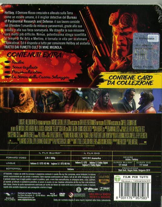 Hellboy. Con Steelbook e card da collezione (DVD + Blu-ray) di Neil Marshall - DVD + Blu-ray - 2