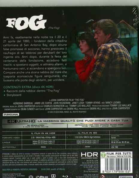 The Fog. Con card numerata (Blu-ray + Blu-ray 4K Ultra HD) di John Carpenter - Blu-ray + Blu-ray Ultra HD 4K - 2