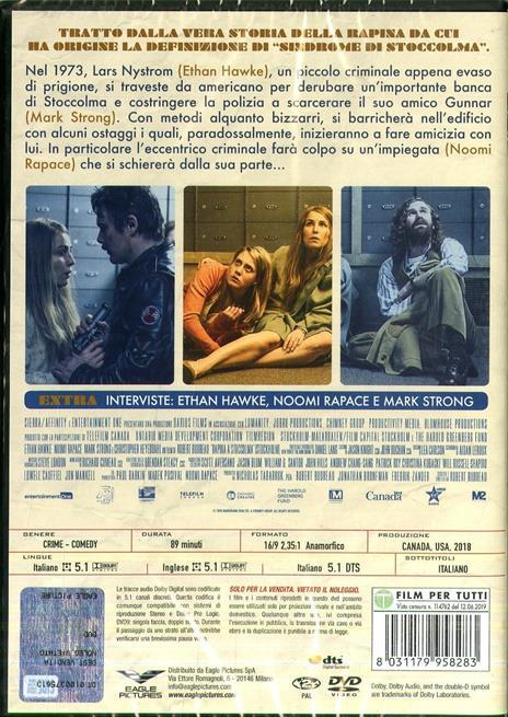 Rapina a Stoccolma (DVD) di Robert Budreau - DVD - 2