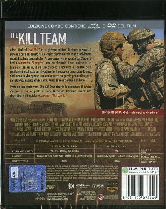 The Kill Team (Blu-ray + DVD) di Dan Krauss - DVD + Blu-ray - 2