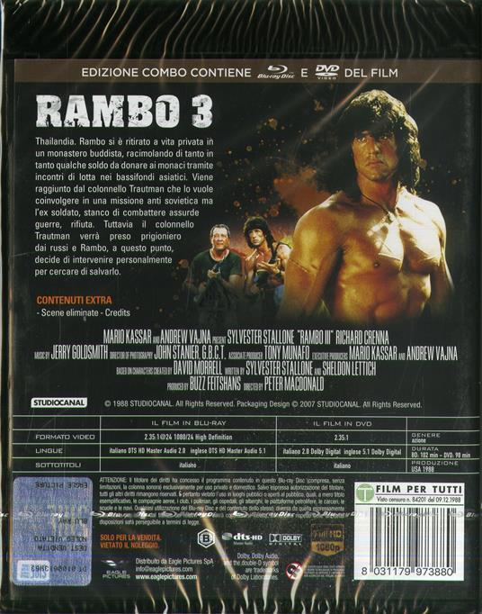 Rambo 3 (Blu-ray + DVD) di Peter MacDonald - DVD + Blu-ray - 2
