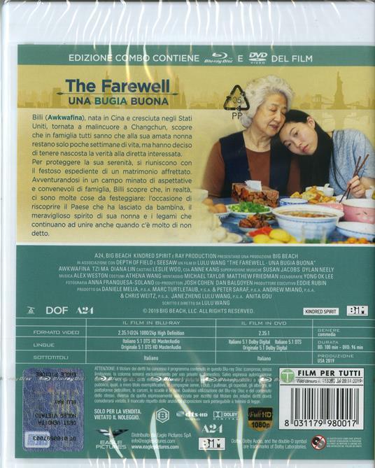 The Farewell. Una bugia buona (DVD + Blu-ray) di Lulu Wang - DVD + Blu-ray - 2