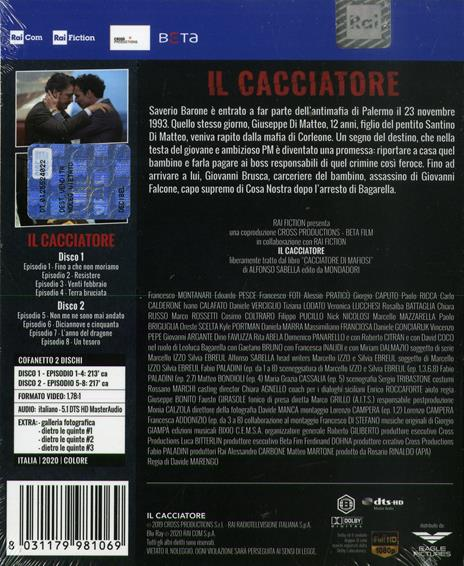 cacciatore. Stagione 2. Serie TV ita (2 Blu-ray) di Stefano Lodovichi,Davide Marengo - Blu-ray - 2