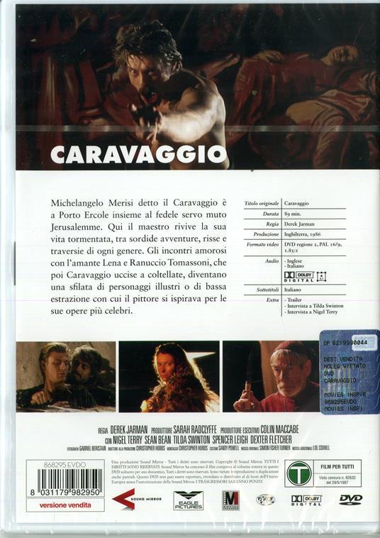 Caravaggio (DVD) di Derek Jarman - DVD - 2