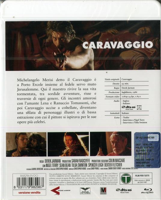 Caravaggio (Blu-ray) di Derek Jarman - Blu-ray - 2