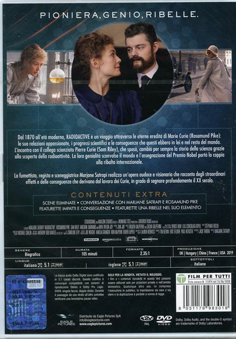 Radioactive (DVD) di Marjane Satrapi - DVD - 2