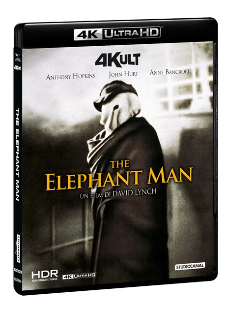 The Elephant Man. Con card numerata (Blu-ray + Blu-ray Ultra HD 4K) di David Lynch - Blu-ray + Blu-ray Ultra HD 4K