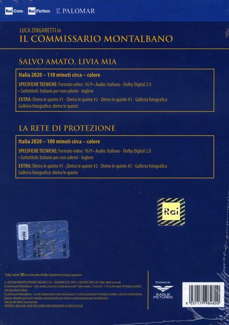 Il commissario Montalbano vol.11. Stagione 2020. La rete di protezione -  Salvo amato, Livia mia (DVD) di Luca Zingaretti,Alberto Sironi - DVD - 2