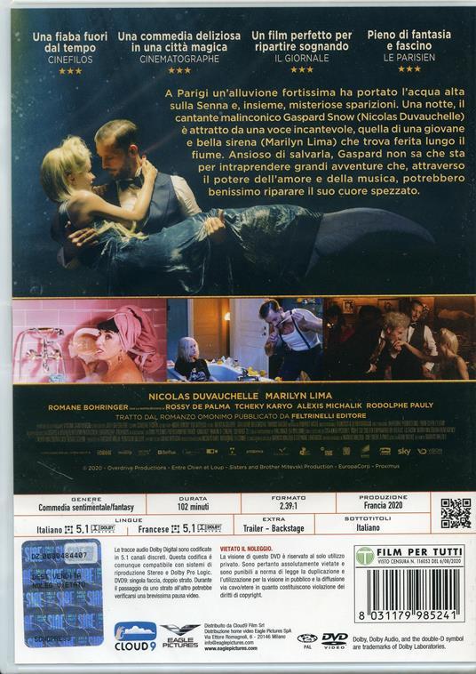 Una sirena a Parigi (DVD) di Mathias Malzieu - DVD - 2