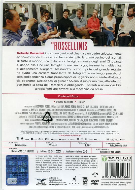 The Rossellinis (DVD) di Alessandro Rossellini - DVD - 2