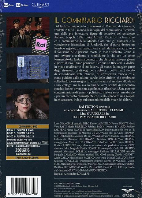 commissario Ricciardi. Serie TV ita (3 DVD) di Alessandro D'Alatri - DVD - 3