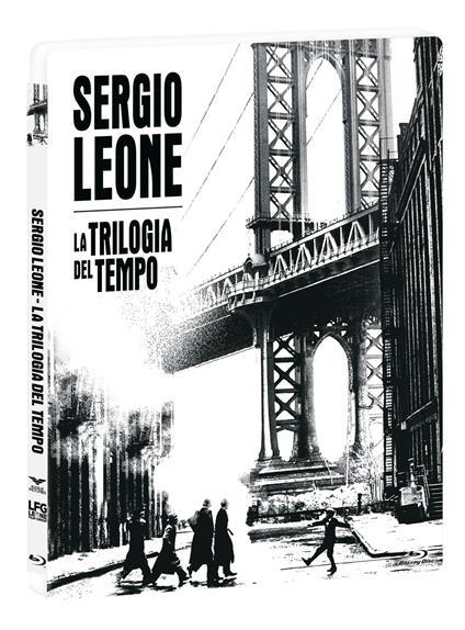 Cofanetto Sergio Leone. La trilogia del tempo. Steelbook + Libro (3 Blu-ray) di Sergio Leone