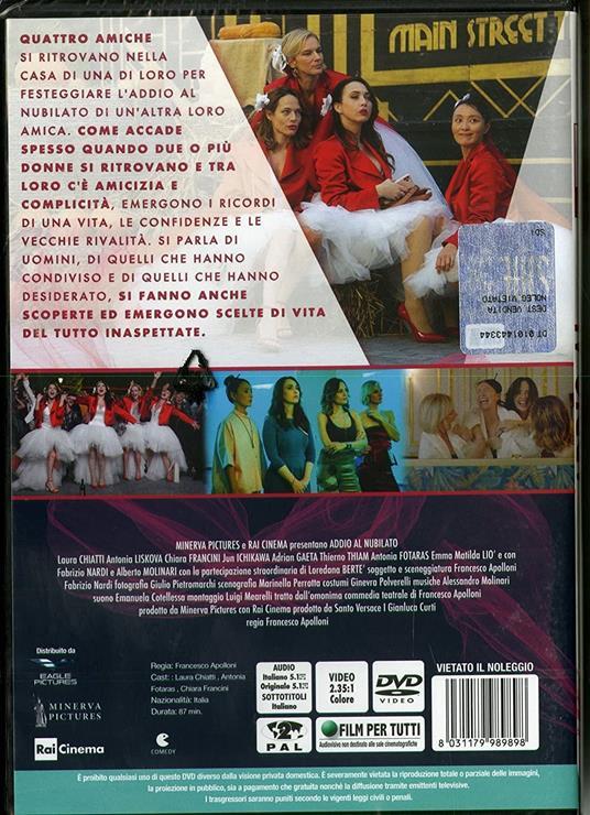 Addio al nubilato (DVD) di Francesco Apolloni - DVD - 2