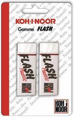 Gomme Flash in vinile Koh-I-Noor. Confezione 2 pezzi