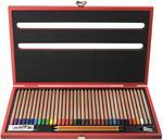 Pastelli Natural Koh-I-Noor. Scatola in legno Luxory con 36 matite colorate e accessori