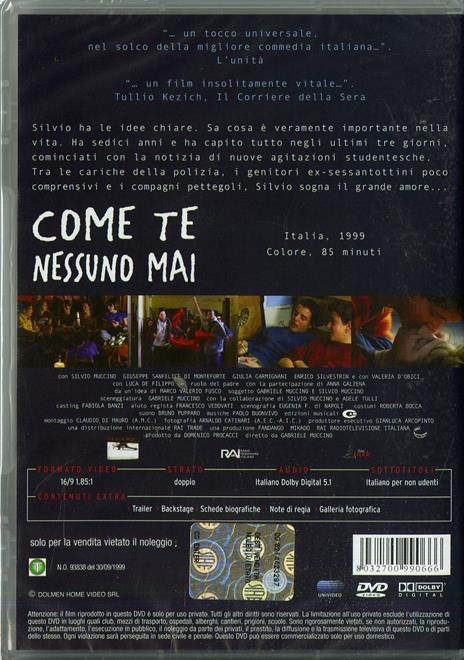Come te nessuno mai di Gabriele Muccino - DVD - 2