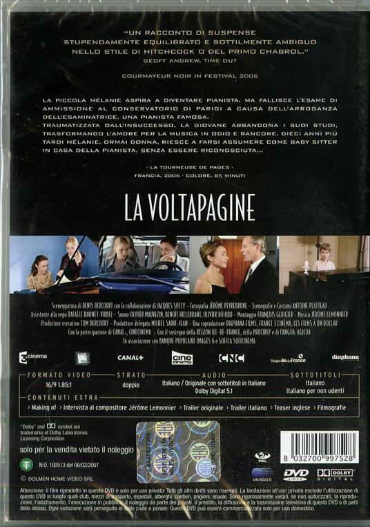 La voltapagine di Denis Dercourt - DVD - 2