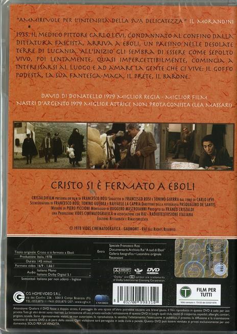 Cristo si è fermato a Eboli di Francesco Rosi - DVD - 2