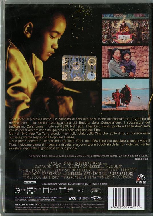 Kundun di Martin Scorsese - DVD - 2