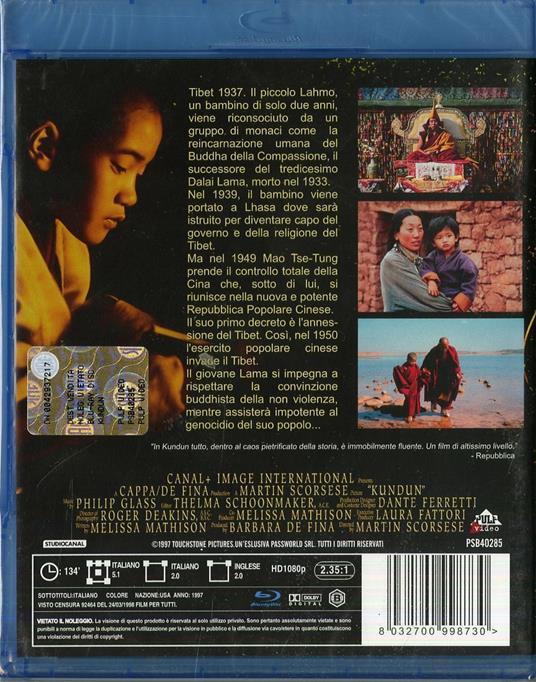 Kundun di Martin Scorsese - Blu-ray - 2