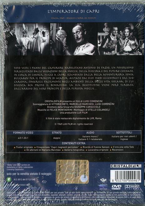 L' imperatore di Capri di Luigi Comencini - DVD - 2